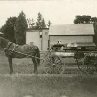 Horse, Dog, and Wagon