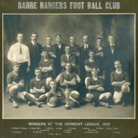 Barre Rangers Foot Ball Club, 1913